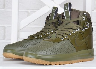 Кросівки жіночі Nike Lunar Force 1 Duckboot Medium Olive хакі оливка